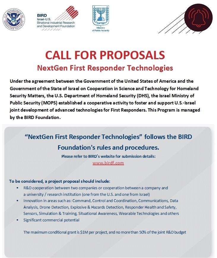 Call For Proposals Bird Foundation